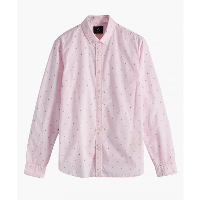 Image for Pale pink print pure cotton shirt
