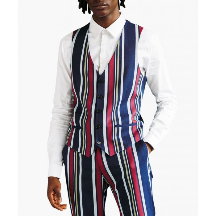 Image for Bold Striped skinny waistcoat