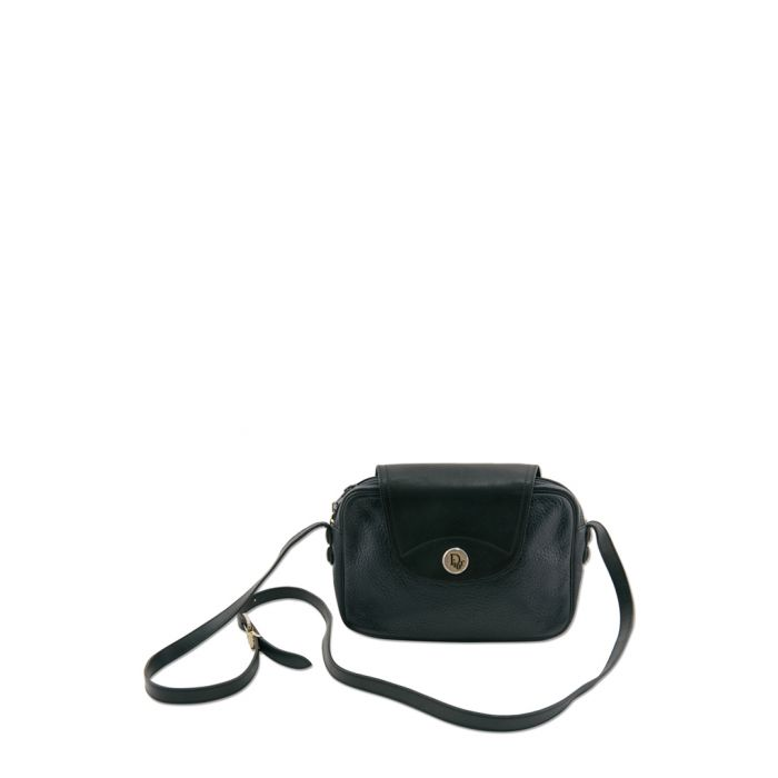 Image for Navy blue leather Flap Sling Bag