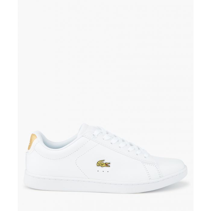 Image for White gold leather sneakers