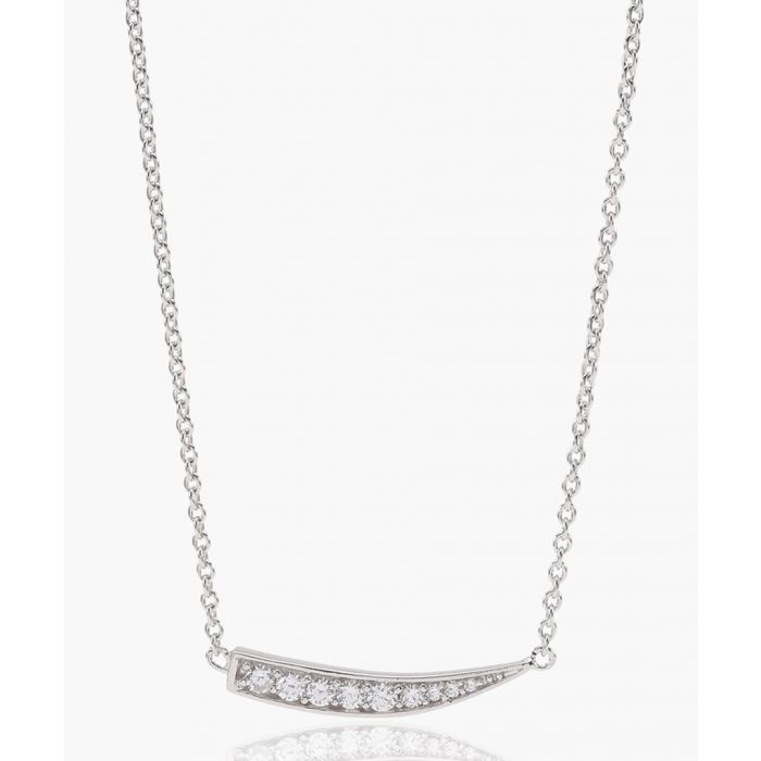 Image for Pila silver-plated zirconia necklace