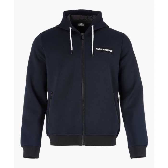Image for Navy zip-up hoodie