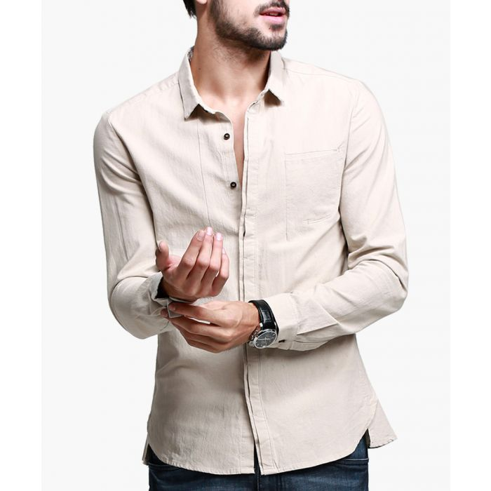 Image for Apricot pure cotton long sleeve shirt