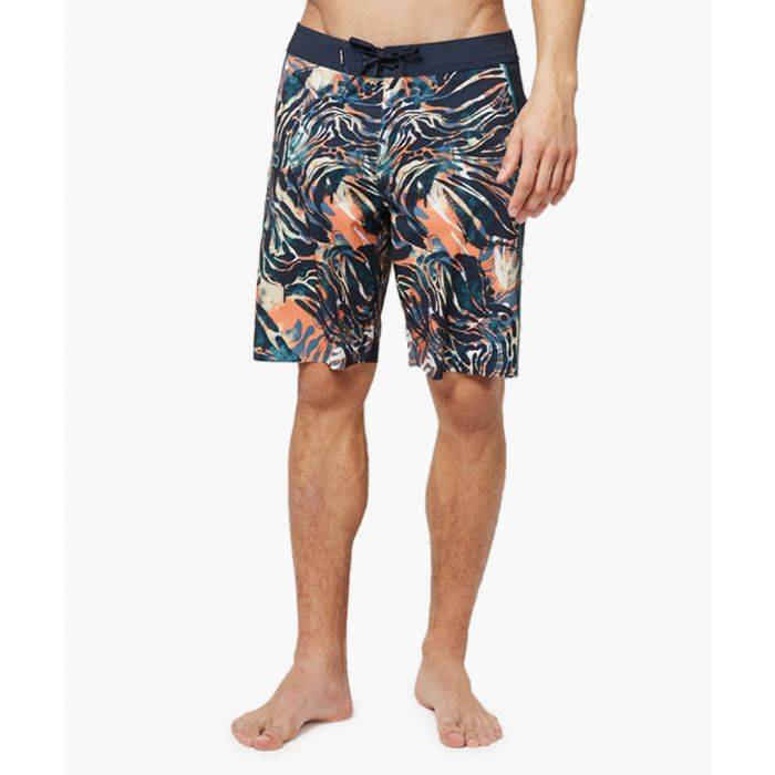 Image for Blue abstract printed shorts