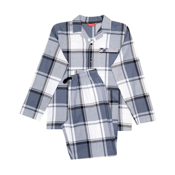 Image for 2pc Aspen grey checked pyjama set