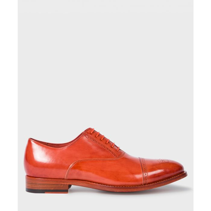 Image for Rusty orange leather Derby shoes