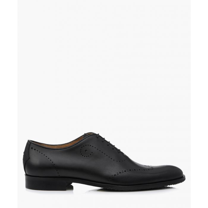 Image for Forate black leather brogues