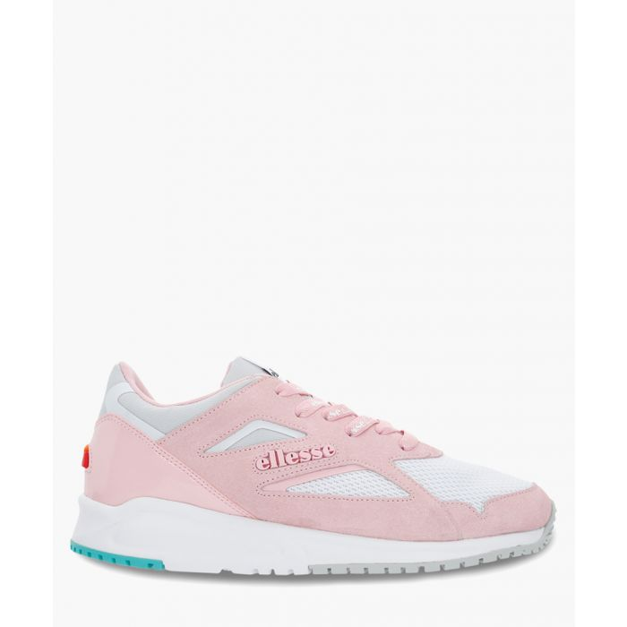 Image for Pink suede logo trainers