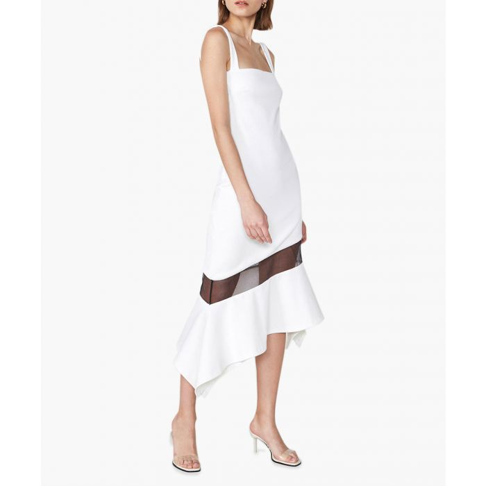 Image for Deeley white midi dress
