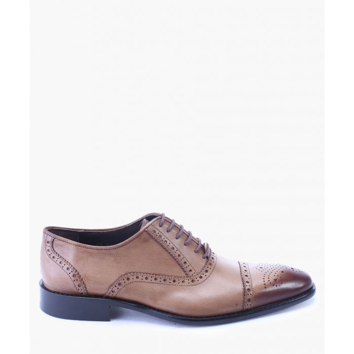 Image for Walnut leather dual-tone oxfords