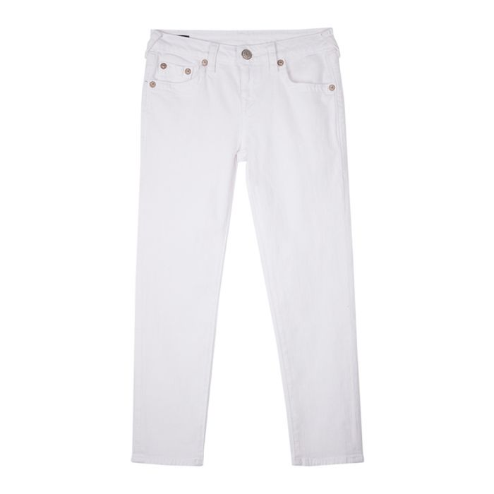 Image for Girls' white cotton jeans
