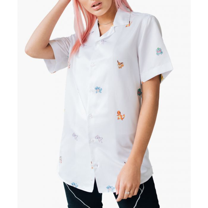 Image for White Pokemon button-up shirt