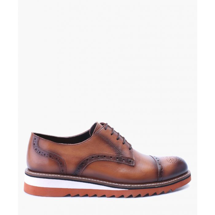 Image for Brown & white leather brogues