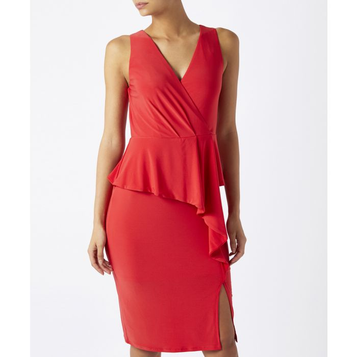 Image for Sheila red layered jersey dress