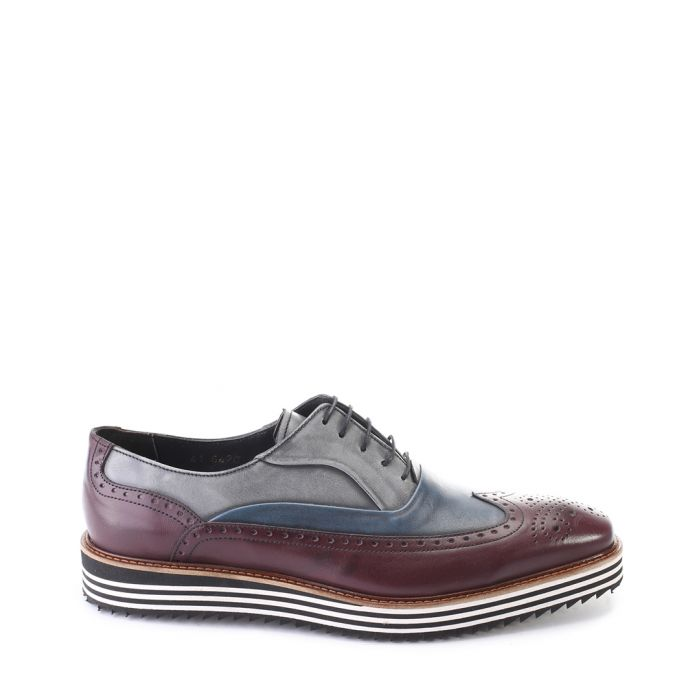 Image for Bordeaux leather striped sole brogues