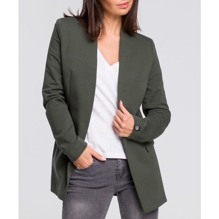 Image for Military green cotton blend blazer