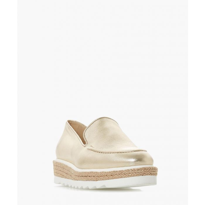 Image for Genie gold-tone flatform loafers