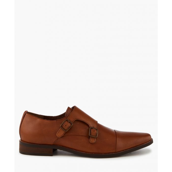 Image for Tan leather monk strap formal shoes