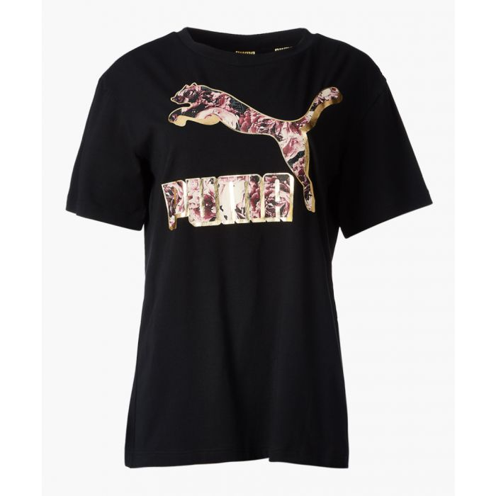 Image for X kenza black cotton t-shirt