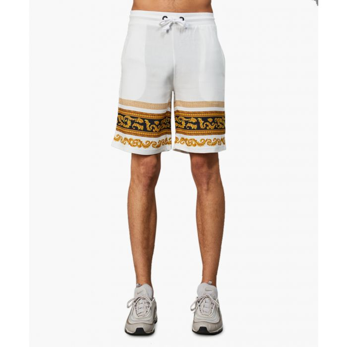 Image for Pollo gold-tone and black printed shorts
