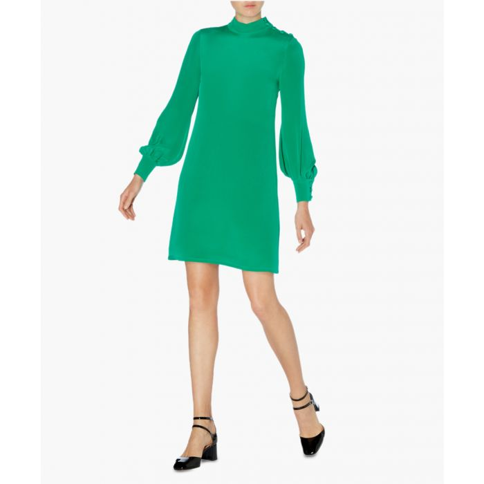 Image for Garland jade pure silk tunic mini dress