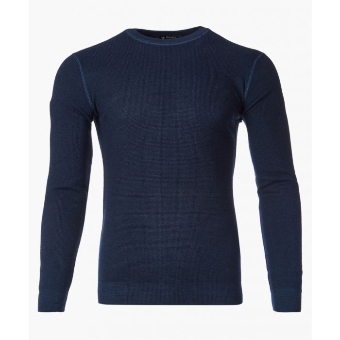 Image for Navy crew neck knitted sweater