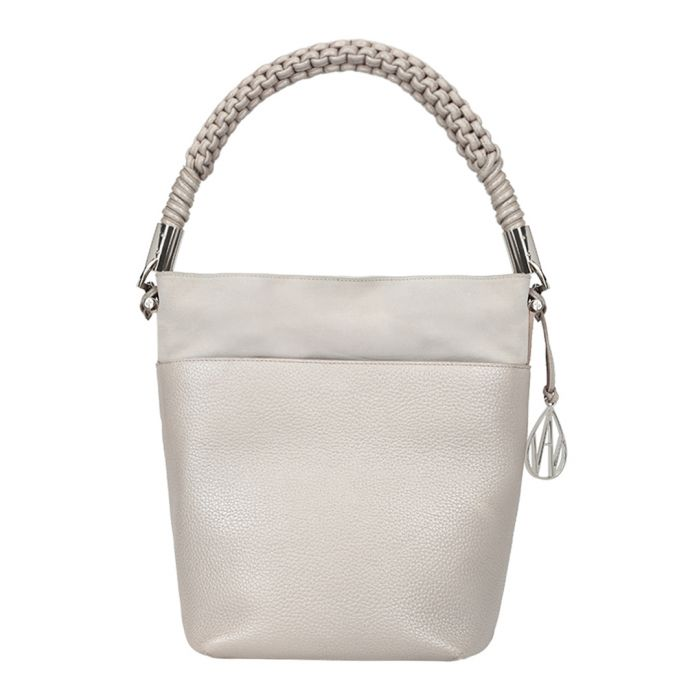 Image for The Scott silver-tone bucket bag