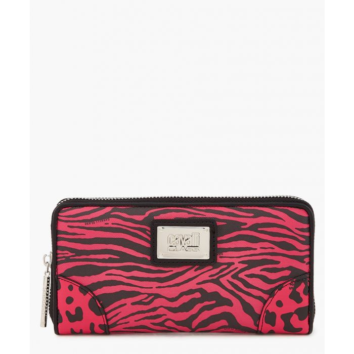 Image for Simone black and fuchsia leather wallet