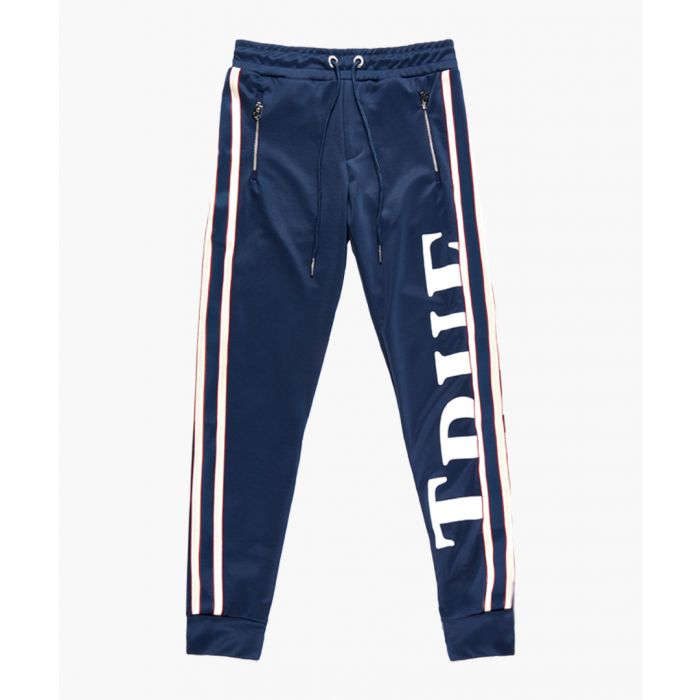 Image for Navy branded logo trousers