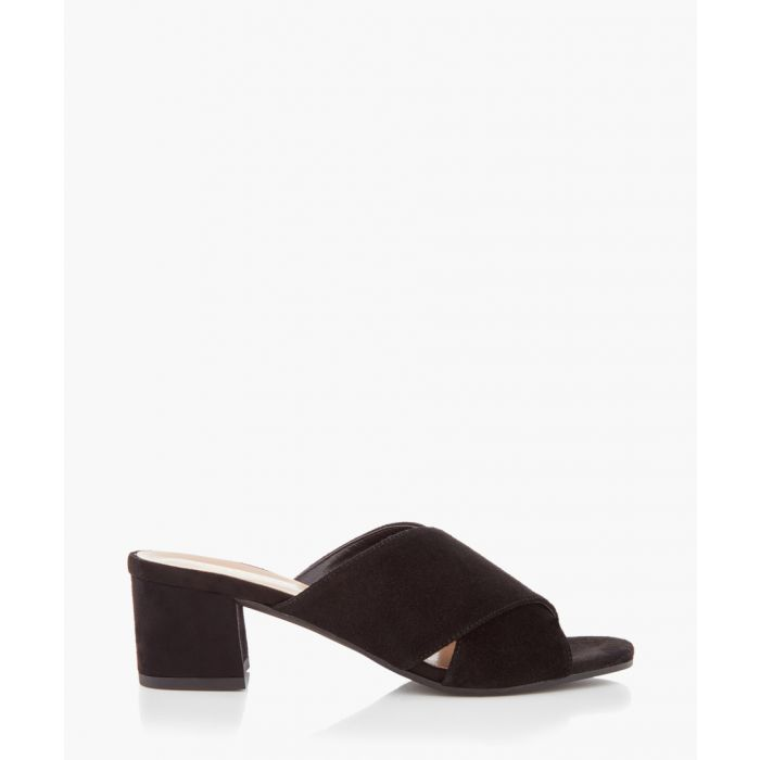 Image for Sienna black crossover mules