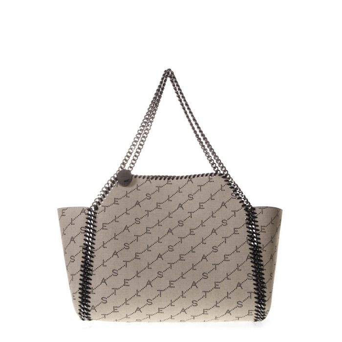 Image for Falabella sand monogram winged tote