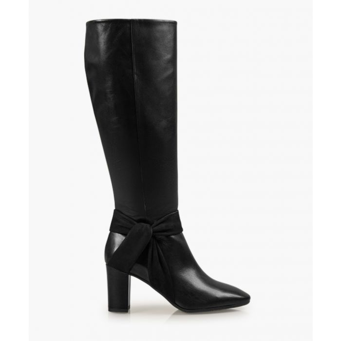 Image for Florence black leather boots