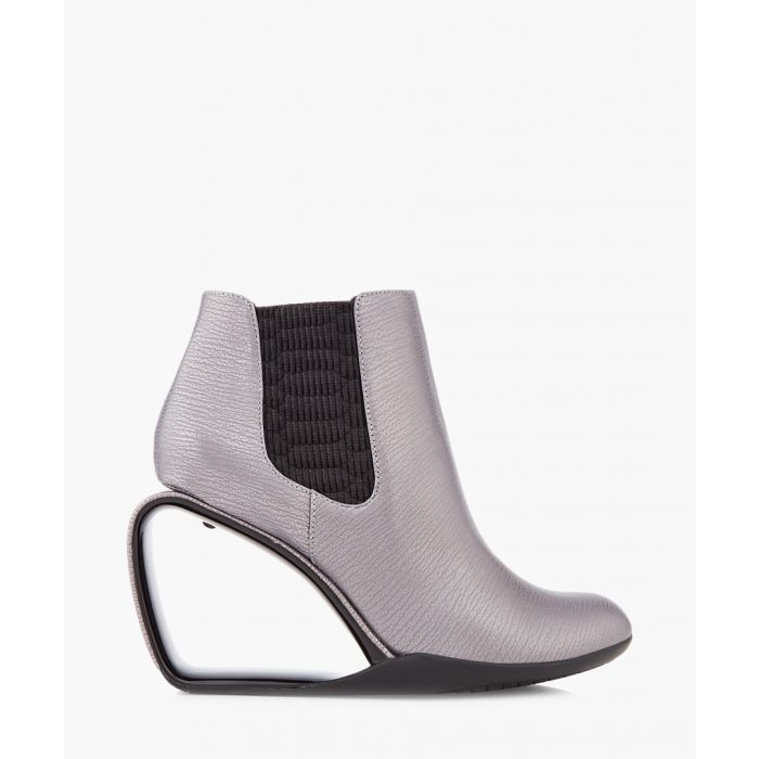 Image for Greyscale panel cut-out ankle boots