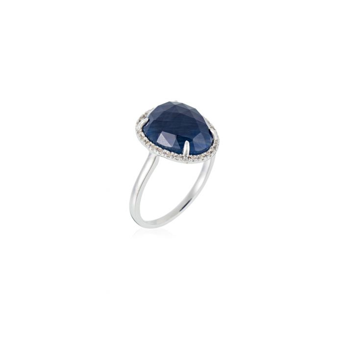 Image for Bermuda News sapphire and white gold ring