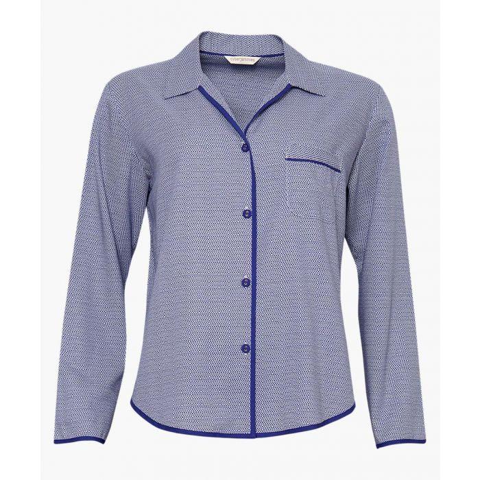 Image for Purple cotton-blend pyjama top