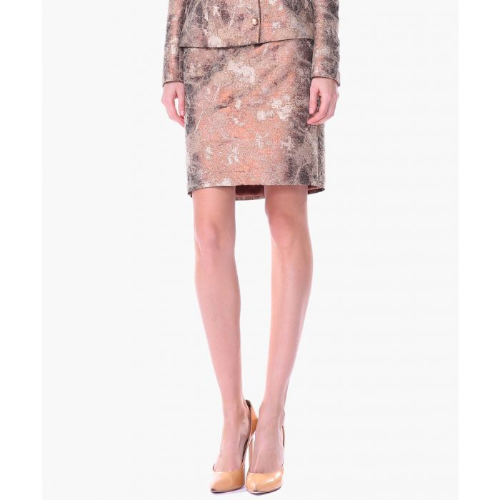 Image for Gold printed skirt