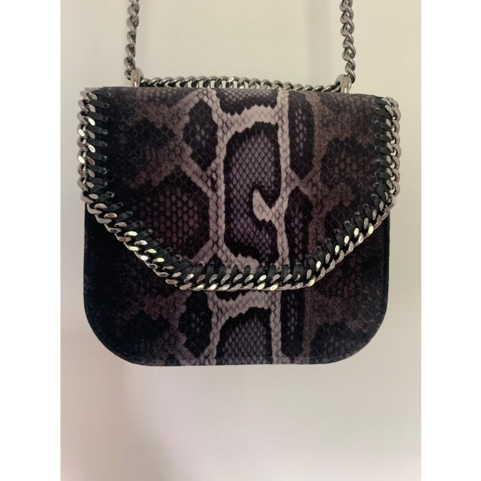 Image for Vintage Stella McCartney Snakeskin Falabella Box Bag Brown