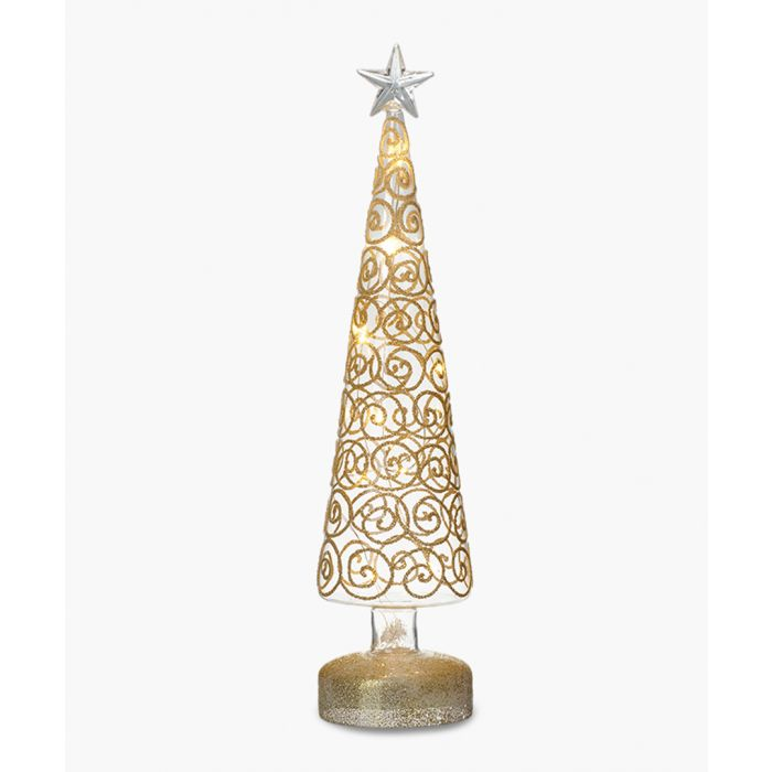 Image for Gold-tone large light-up tree