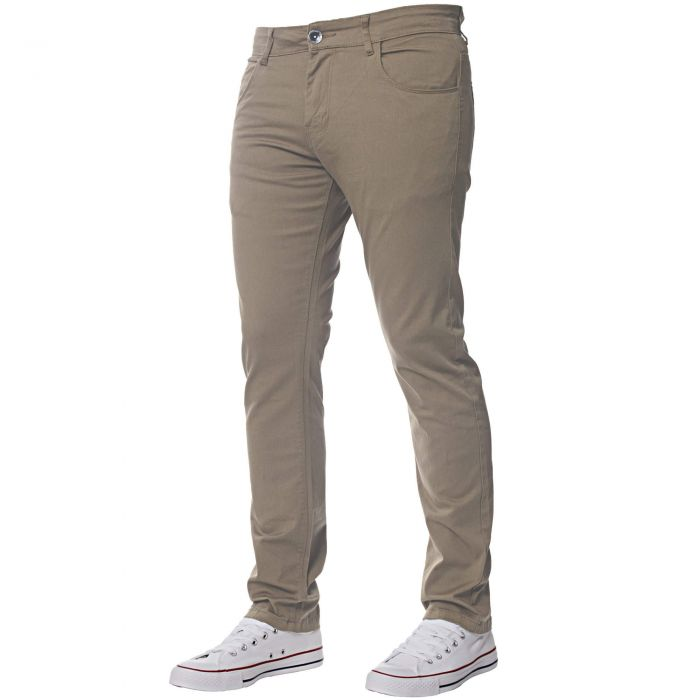 Image for Men's Beige Slim Fit Chinos