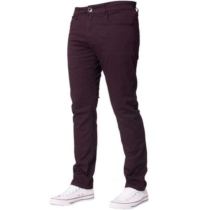 Image for Men's Burgundy Slim Fit Chinos
