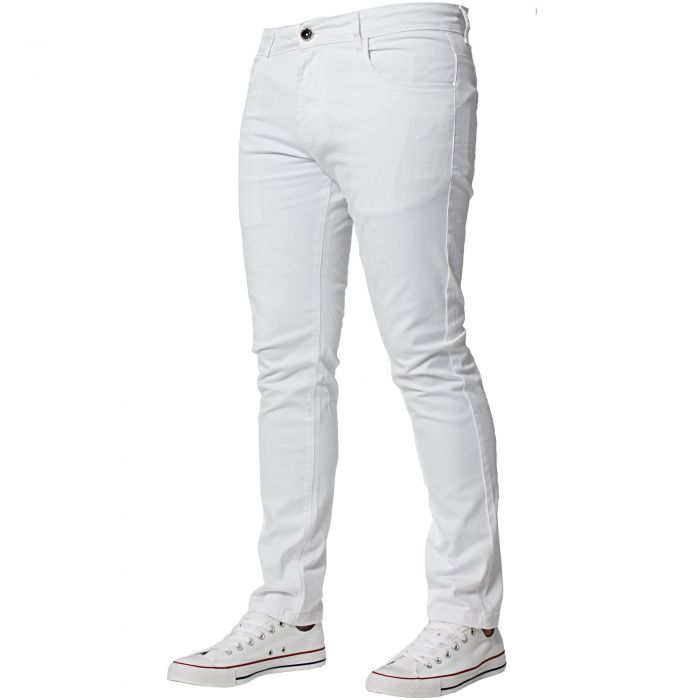 Image for Men's White Slim Fit Chinos