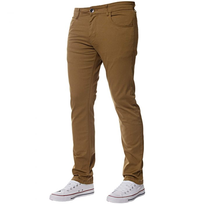 Image for Men's Tan Slim Fit Chinos