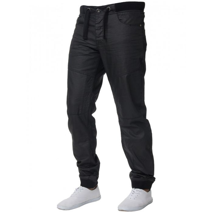 Image for Mens Denim Cuffed Joggers Jeans  | Enzo Designer Menswear