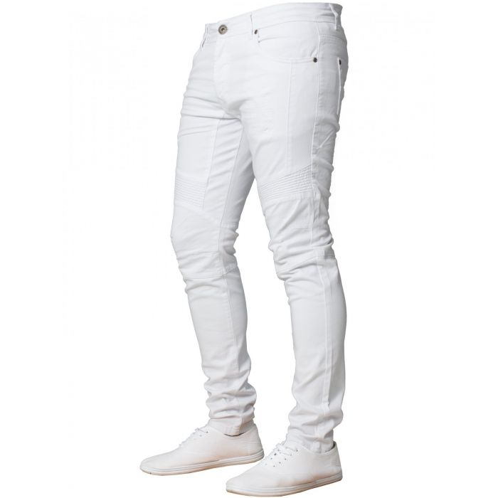 Image for Mens  Super Skinny Stretch Biker Denim Jeans | Enzo Designer Menswear