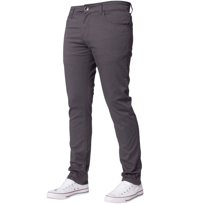 Image for Men's Grey Slim Fit Chinos