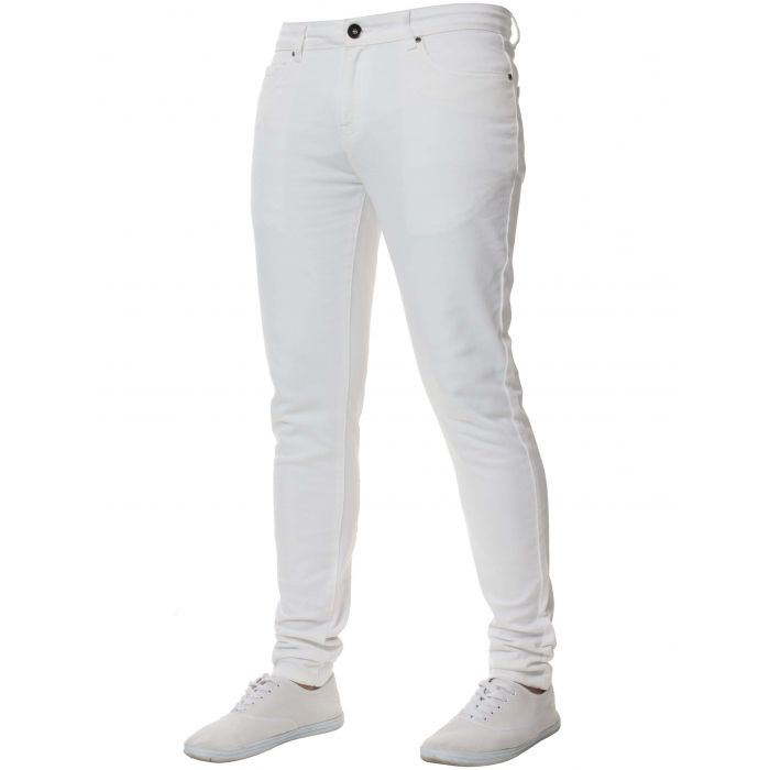 Image for White super skinny stretch jeans