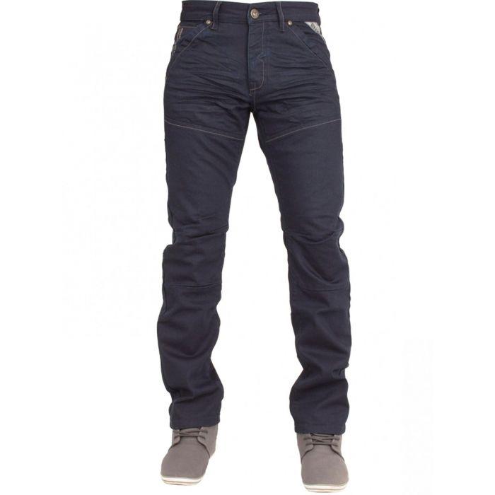 Image for Mens Navy Regular Fit Denim Jeans EZ329 | Enzo Designer Menswear