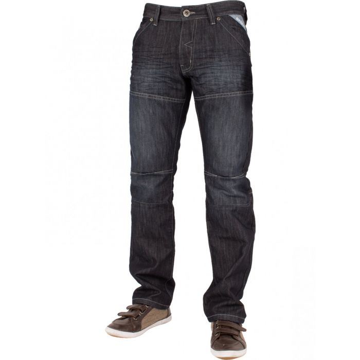 Image for Mens Dark Wash Straight Fit Denim Jeans EZ244 | Enzo Designer Menswear