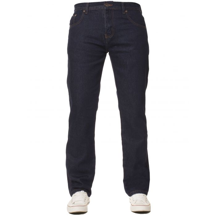 Image for Basic regular indigo jeans