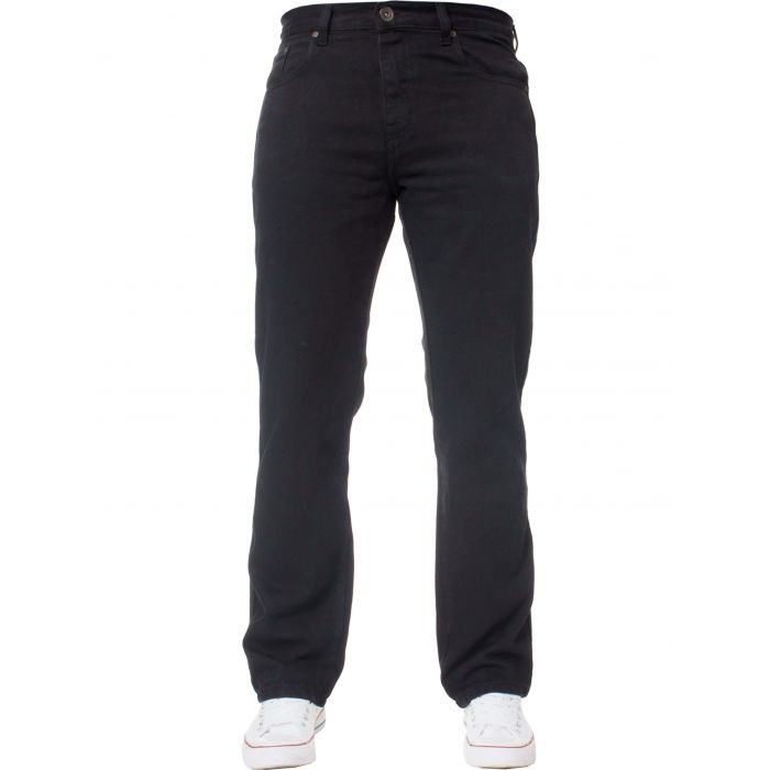 Image for Basic regular black jeans